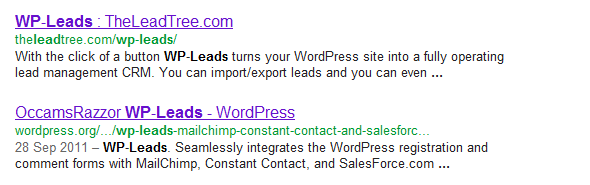WordPress WP-Leads plugin - more than one!