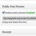 Previews for Unpublished WordPress Posts