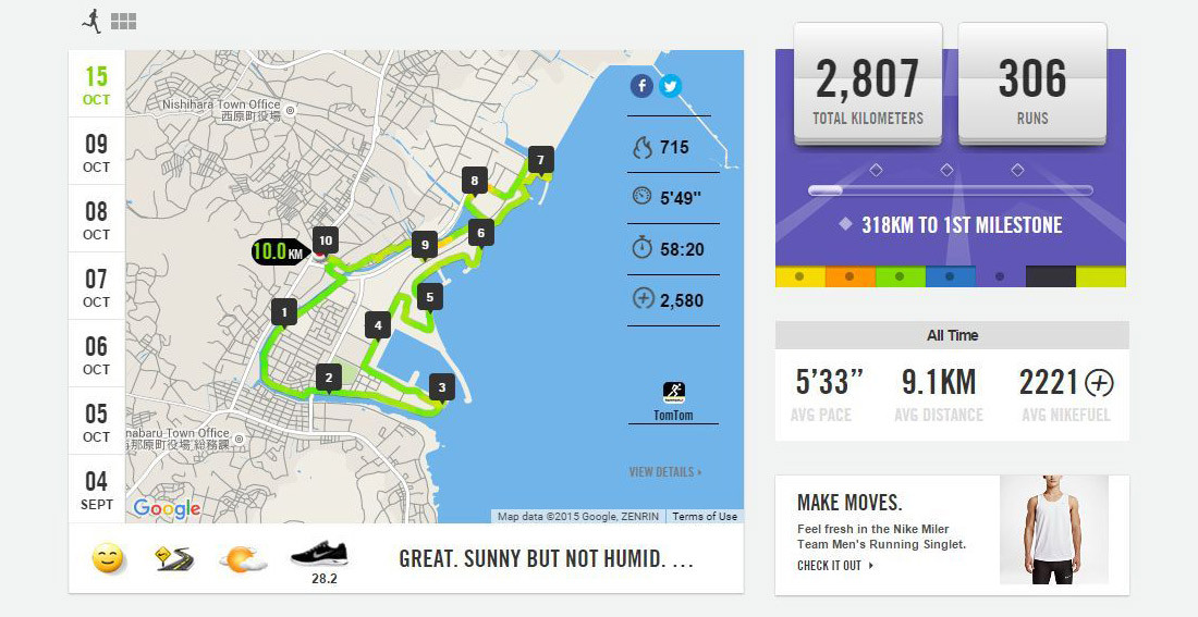 Nike+ Header