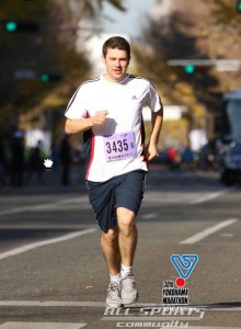 Alan running in the Yokohama Marathon