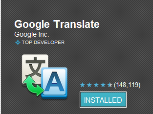 Android Google Translate App