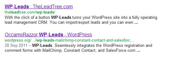 WordPress WP-Leads plugin - more than one!